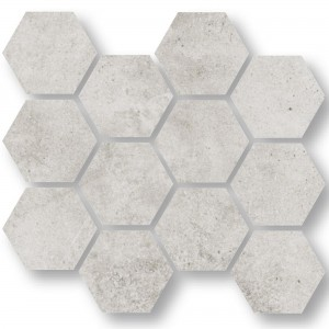 Mosaikfliesen Oregon Hellgrau Hexagon