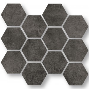Mosaikfliesen Oregon Anthrazit Hexagon